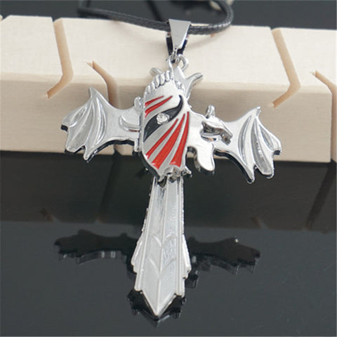 Bleach Necklace - Hollow Cross Stainless Steel Pendant - AnimeBling - 1