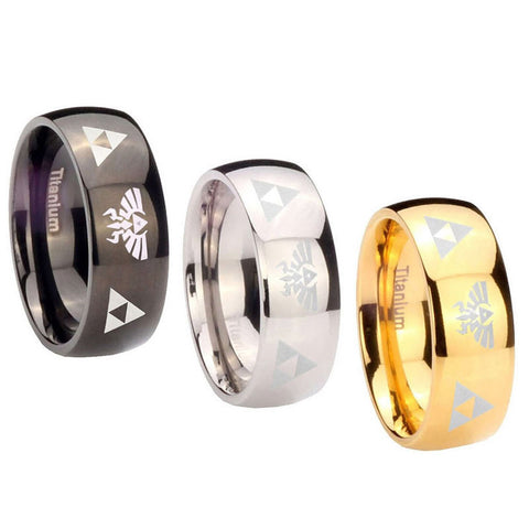 Legend of Zelda Ring - Triforce Titanium 3 Colors - AnimeBling - 1