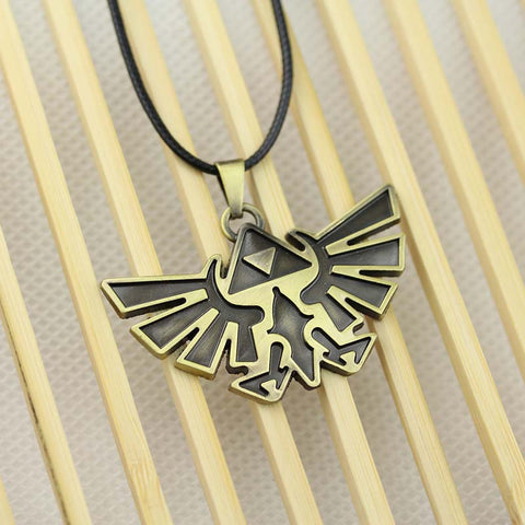 Legend of Zelda Triforce Necklace - Bronze Pendant - AnimeBling - 1