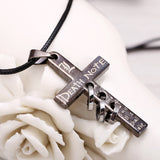 Death Note Necklace - Black Gold Cross Pendant - AnimeBling - 6