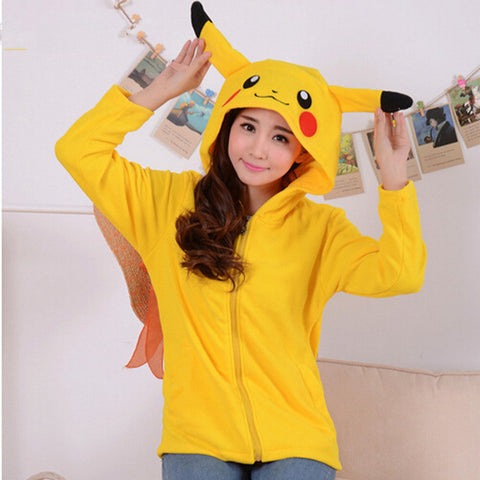 Pokemon Cosplay - Pikachu Hoodie with Ears - AnimeBling - 1
