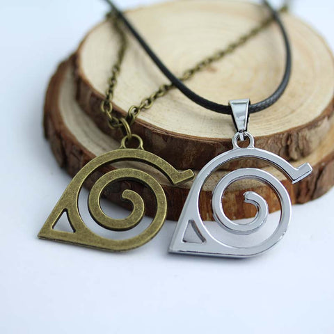 Naruto Necklace - Konoha Leaf Village Symbol - AnimeBling - 1