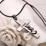 Death Note Necklace - Black Gold Cross Pendant - AnimeBling - 4