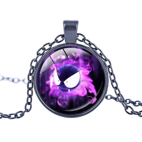 Pokemon Glass Dome Necklace - Gastly - AnimeBling - 1