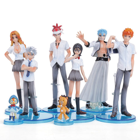 Bleach Figures 8 Pc/Set - Ichigo, Renji, Rukia & More - AnimeBling - 1