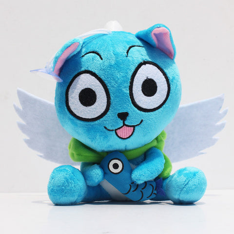 Fairy Tail Happy Plush - Happy with Fish 15cm - AnimeBling - 1