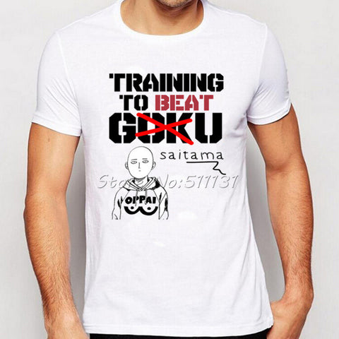 One Punch Man T Shirt - Training to beat Goku - AnimeBling - 2