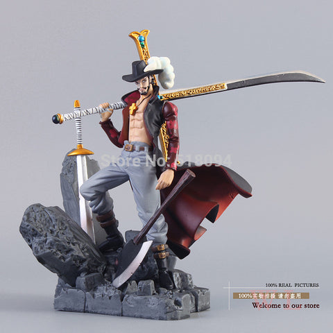 One Piece Figurine - Hawkeye Dracule Mihawk Action Figure - AnimeBling - 1