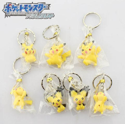 Pokemon Pikachu Keychain - 7 Pcs/Set - AnimeBling - 1