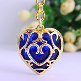 Legend of Zelda Heart Container Necklace - Red/Blue Color - AnimeBling - 14