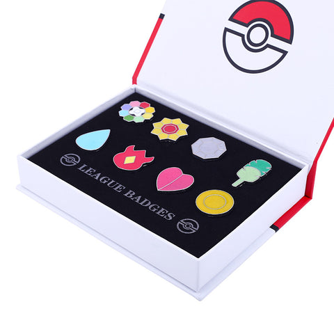 Pokemon Badges Collection - Gym Badges with Case - AnimeBling - 1