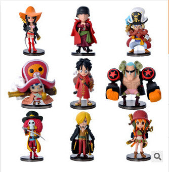 One Piece Figures, Mini Strawhat Crew - 9 Pcs/Set - AnimeBling - 1