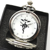 Fullmetal Alchemist Pocket Watch - Silver Set with Gift Box - AnimeBling - 10