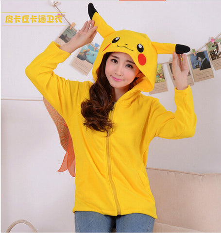 Pokemon Cosplay - Pikachu Hoodie with Ears - AnimeBling - 4