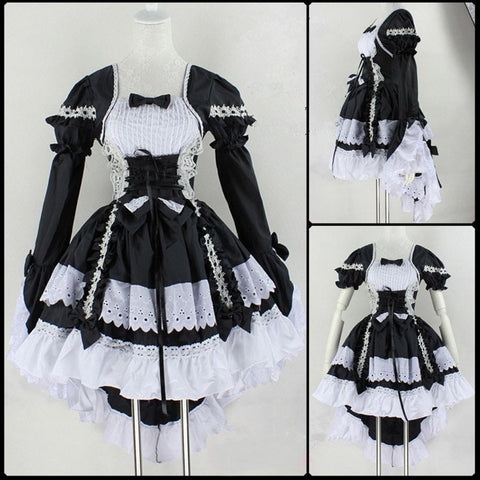 Black Butler Cosplay Costumes - Maid Lolita Dress - AnimeBling - 1