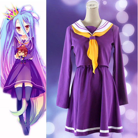 No Game No Life Shiro Cosplay Costume Set - AnimeBling - 1
