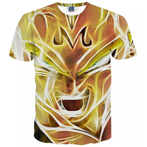 Dragon Ball Z - Super Saiyan Vegeta 3D T Shirt - AnimeBling - 1
