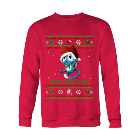 Fairy Tail Christmas Sweater Happy
