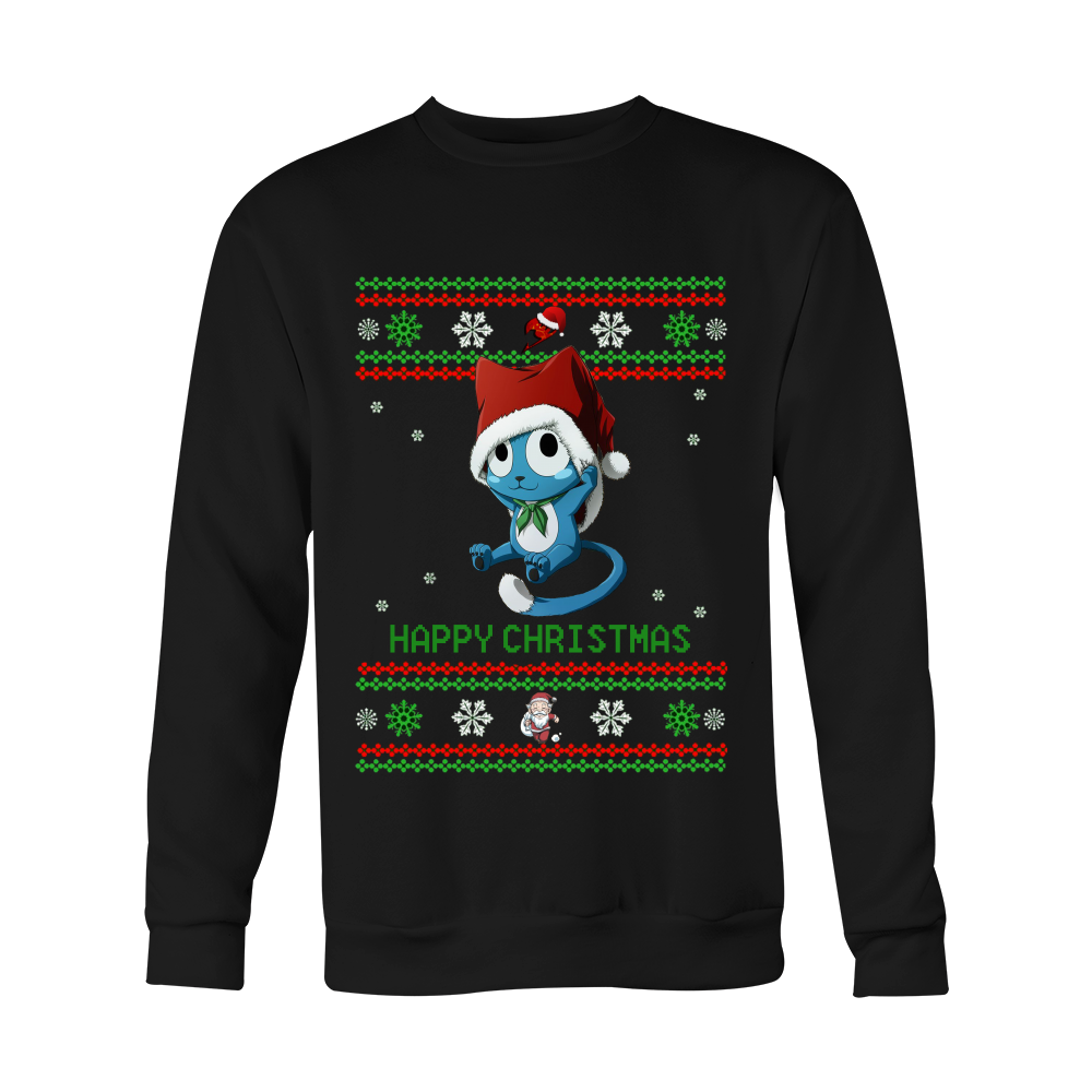 fairy tail christmas sweater happy animebling 1