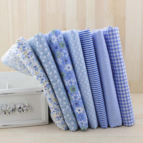 Assortiment de 7 coupons - Tons bleu clair (50x50cm)
