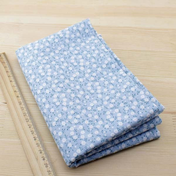 Assortiment de 7 coupons - Tons bleu clair - 100x100