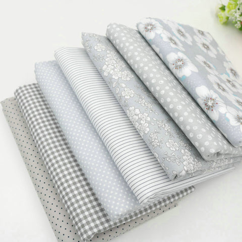 Assortiment de 7 coupons - Tons gris