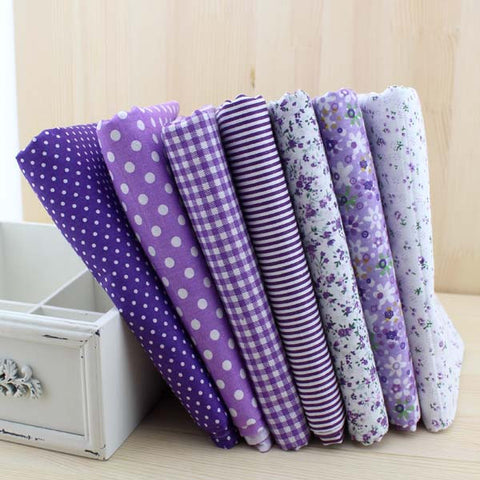 Assortiment de 7 coupons - Tons violets - 100x100