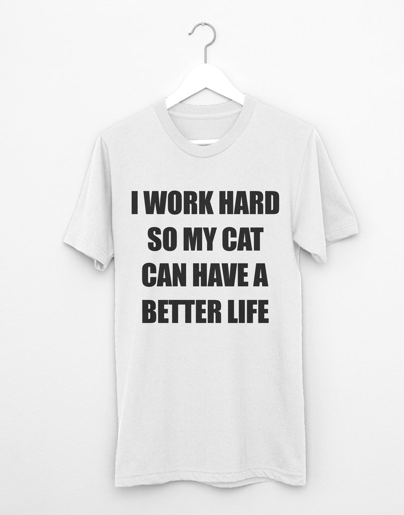 Work Hard (Cat) Tee