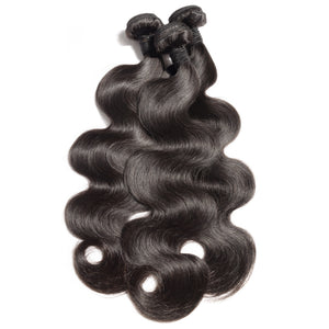 brazilian body wave bundles 100% unprocessed natural hair 100 grams brazilian weave brazilian hair extensions body wave weave Natural colour 1B hair full cuticle aligned