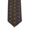 Red/Green Medallion Madder Silk Tie Untipped - The Bespoke Shop