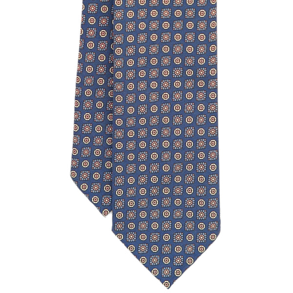 Blue Floral Madder Tie Untipped
