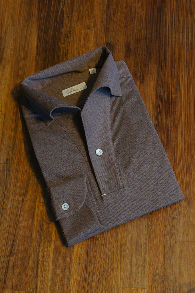 One-piece Polo Shirt - Chestnut - The Bespoke Shop