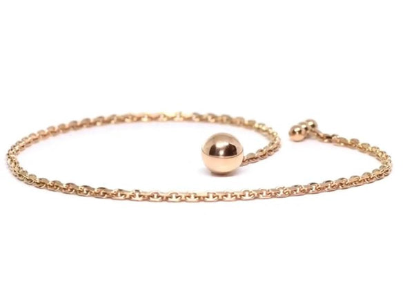 Rosé Gold Plated Solid 925 Sterling Silver Lapel Chain - The Bespoke Shop