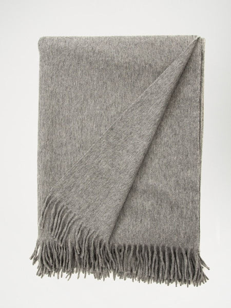 Jura Lambswool/Angora Scarf - Derby Grey - The Bespoke Shop
