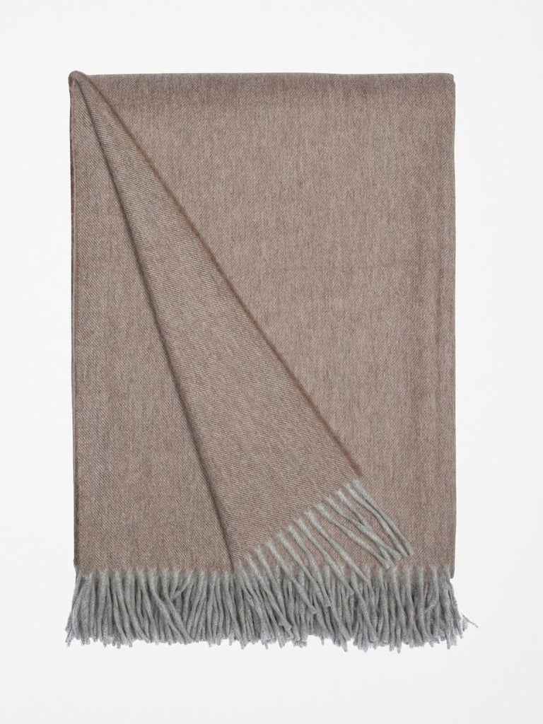 Jura Lambswool/Angora Scarf - Light Elk - The Bespoke Shop