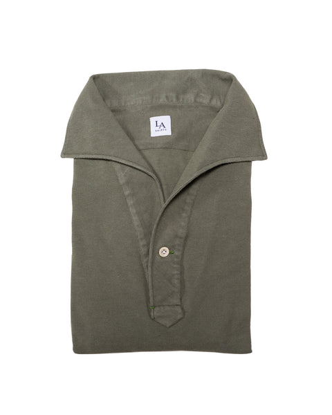 Luca Avitabile olive one piece collar friday polo shirt