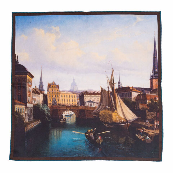 View of the Riddarholmskanalen, Stockholm, 1835 - The Bespoke Shop