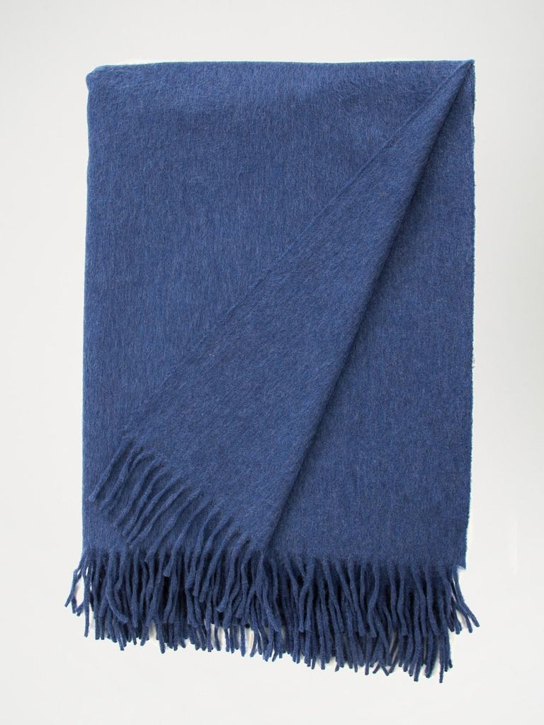 Jura Lambswool/Angora Scarf - Classic Denim - The Bespoke Shop