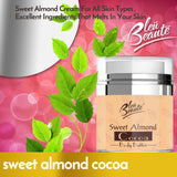 Bleu Beaute Sweet Almond Cocoa Body Butter Moisturizing, Skin Nourishing ideal for Stretch Marks - Skin Care cream (*)