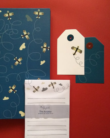 Aviator Folder, Notepad and Tags Set