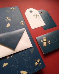 Aviator Folder, Tags and Stationery Set