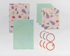 Ice cream gift envelopes set