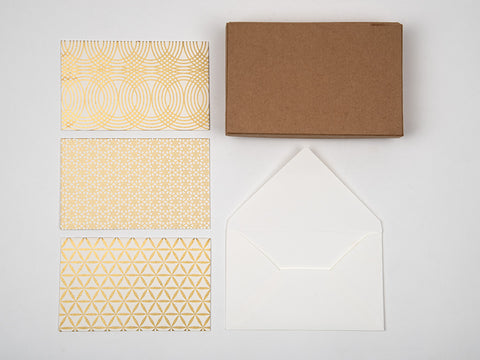 Festive Gold stationery set