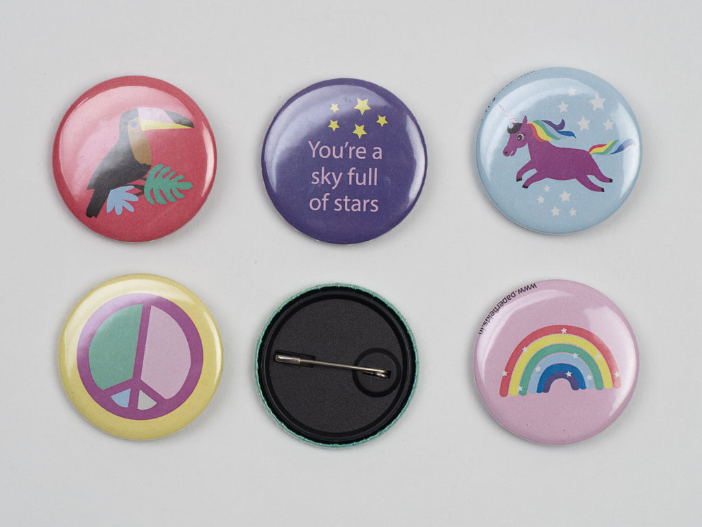 Rainbow Unicorn Badges