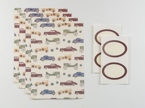 Vintage Car Gift Envelope Set