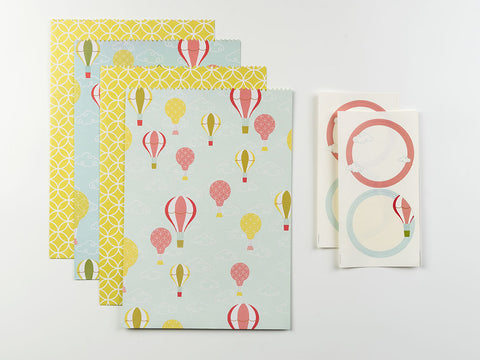 Hot Air Balloon Gift Envelope Set
