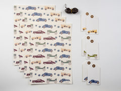 Vintage Cars Wrap and Tag Set