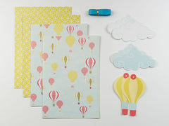 Hot Air Balloon Wrap and Tag Set