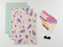 Ice Cream Wrap and Tag Set