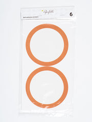 Orange circle stickers